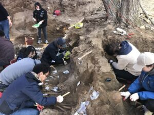 2018년 충남 아산 유해발굴|노용석 제공