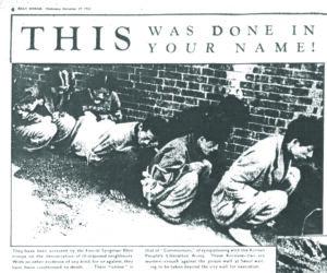 사형 집행을 기다리는 사람들|1950.11.29. 《Daily Worker》, 강성현 제공