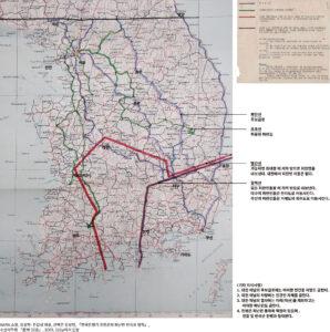 유엔군이 지정한 피란민의 이동로 및 접근금지 구역|NARA 소장, 강성현·전갑생 제공